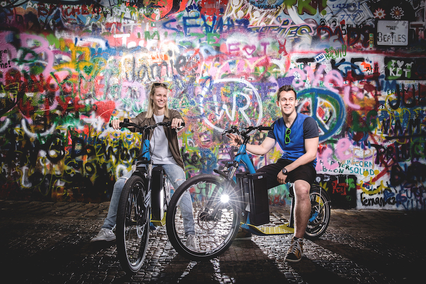E-scooter tour in Prague with Lennon Wall