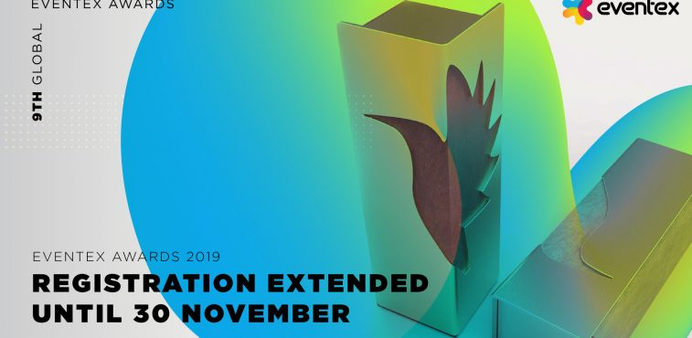 (English) Registration deadline for Eventex Awards 2019 extended due to huge interest